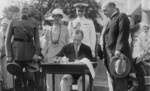 Free Picture of President Coolidge Signing Appropriation Bills