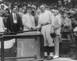Free Picture of Calvin Coolidge Shaking Hands with Walter Johnson
