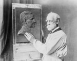 Free Picture of Henry K. Bush-Brown Creating Bas-Relief Portrait of Calvin Coolidge