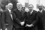 Free Picture of Calvin Coolidge, Judge Elbert Henry Gary, and John D. Rockefeller