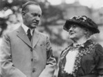 Free Picture of President Coolidge and Mother Jones