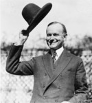 Free Picture of Calvin Coolidge Tipping His Hat