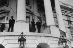 Free Picture of President and Mrs Coolidge on White House Balcony
