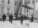 Free Picture of Coolidge Watching White House Repairs