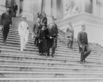 Free Picture of President and Mrs. Coolidge Leaving the Capitol