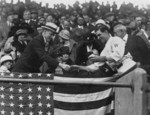 Free Picture of Manager Stanley Harris Presenting President Coolidge Opening Baseball