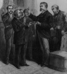 Free Picture of Justice John R. Brady Administering the Oath of Office to Vice President Arthur