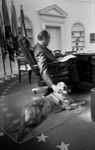 Free Picture of Gerald Ford and His Dog, Liberty