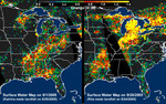 Free Picture of Distribution Patterns, Hurricanes Katrina and Rita