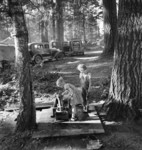 Free Picture of Children Playing in Bean Pickers Camp