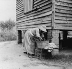Free Picture of Woman Washing Laundry