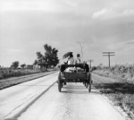 Free Picture of People Riding in Wagon