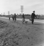 Free Picture of Homeless Family Walking US 99