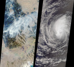Free Picture of Hurricane Hector and Montana Fires