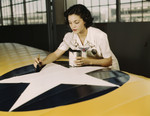 Free Picture of Rosie Painting the American Insignia