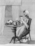 Free Picture of Woman and Cat at Table