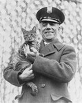 Free Picture of Man and Cat