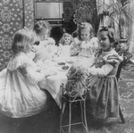 Free Picture of Little Girl Tea Party