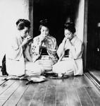 Free Picture of Three Women Drinking Tea