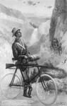 Free Picture of Man on a Bicycle, Yellowstone Park