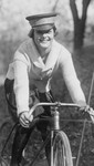 Free Picture of Female Bike Messenger