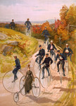 Free Picture of People on Penny Farthings