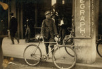Free Picture of Postal Telegraph Messenger With Bike
