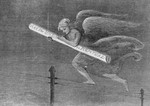 Free Picture of Angel Carrying Telegraph