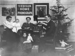 Free Picture of Family Listening to a Phonograph