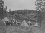 Free Picture of Tipis and People on Horses