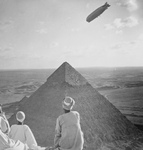 Free Picture of Graf Zeppelin Over Pyramids of Giza