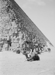 Free Picture of Men and Camels on the North Side of the Great Pyramid
