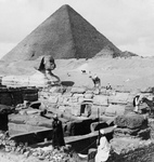 Free Picture of Granite Temple, Sphinx and Great Pyramid