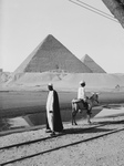 Free Picture of Men Viewing the Two Largest Pyramids of Giza