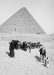 Free Picture of Caravan of Bedouins by the Egyptian Pyramids
