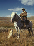 Free Picture of Shepherd With His Horse and Dog