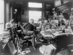 Free Picture of Thomas W. Lawson Using Telephone