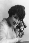 Free Picture of Woman Using Telephone