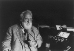 Free Picture of Alexander Graham Bell With Radiophone