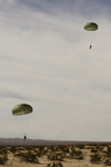 Free Picture of Army Soldiers Descending To Drop Zone