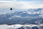 Free Picture of Military Helicopter Over Afghanistan Mountains