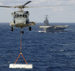 Free Picture of Aircraft Carrier and Helicopter