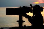 Free Picture of Man Using Binoculars