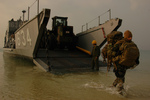 Free Picture of Unloading Equipment from Utility Landing Craft