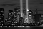 Free Picture of Black and White Stock Image of the Tribute in Light Memorial