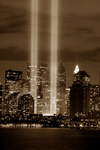 Free Picture of Sepia and Vertical Photograph of the Tribute in Light Memorial