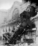 Free Picture of 1895 Montparnasse Station Train Wreck