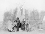 Free Picture of Arappaho Indians by Tipi