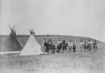 Free Picture of Indian War Party Near Tipis