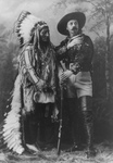 Free Picture of Sitting Bull Standing With Buffalo Bill